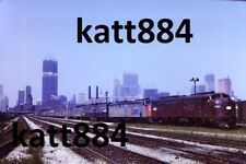 ORIGINAL 35MM COLOR SLIDE 1972 CHICAGO AMTRAK SEARS TOWER CONTRUCTION BUCKLEY