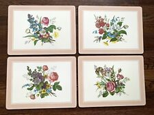 VTG Floral Cork Placemats Set of 4 Traditional Collection England Signed GELB