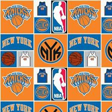 New York Knicks NBA Block Cotton Fabric Sold by The Yard