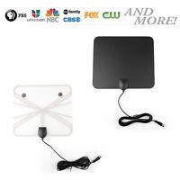 Ultra Delgado Plano Interior HDTV Amplificado Señal  Antena 1080 HD 200 Milla B6