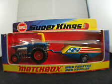 Matchbox Super Kings K-3 MOD Tractor and trailer neuf en boîte / boxed MIB