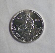 1984 Engelhard The American Prospector 1 oz. .999 Silver Round Coin U.S.A. (C)