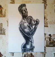 Acrylic Painting, male, Nude, 100% Hand Painted, original, 60x80cm