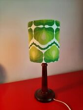70s Lampshade Table lamp  Retro Vintage 60s 50s  drum funky orginal fabric