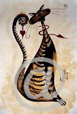 Katze * Orig. Aquarell Bild Cat Watercolor