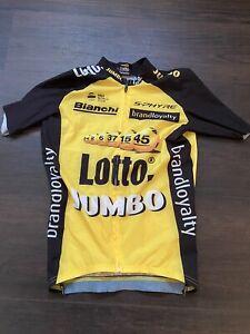 Lotto Jumbo Aero Jersey Small Roglic Shimano Pro Bianchi Yellow Black Team Issue