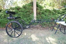 """EZ Entry Small Mini Horse Cart Metal Floor  w/45"""" Shafts w/24""""Solid Rubber Tires"""