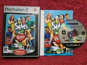 THE SIMS 2 PETS PLATINUM VERSION SONY PLAYSTATION PS2 PAL