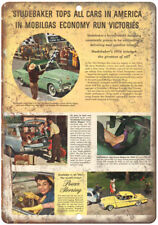"""1954 Studebaker Triumph Vintage Auto Ad 10"""" x 7"""" Reproduction Metal Sign A441"""