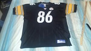 HINES WARD #86 STEELERS 2002-04 AUTHENTIC REEBOK HOME FOOTBALL JERSEY sz 54 NWT