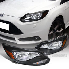 2012-2014 Ford Focus Crystal Headlights Black Headlamps for US & Canadian Models