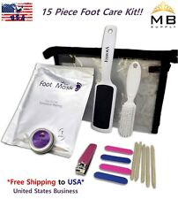 15 Pcs Baby Exfoliating Foot Mask & Pedicure Home Care All in One Kit-SAVE MONEY