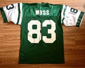 Nike New York Jets Santana Moss NFL Football Jersey Adult Large EX Shape