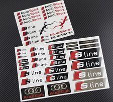 Audi S-line quattro 2 aufkleber set blatt 47 stickers A3 A4 A6 sline
