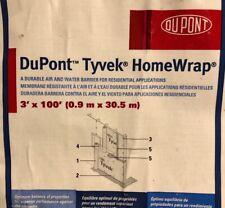 DuPont Tyvek  HomeWrap - 3' x 100' - 1 Roll