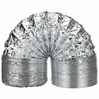Aluminum Tube Air Ventilation Pipe Hose Flexible Exhaust Duct Fresh Air System