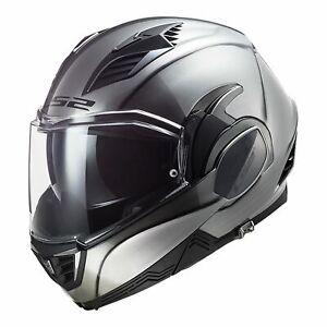LS2 MOTORCYCLE HELMET FF900 VALIANT GLOSS TITANIUM FLIP FRONT LS2FF900JEANS XL