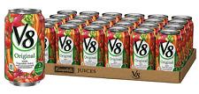 V8 Original 100% Vegetable Juice (24 Pack) 11.5 Oz Cans – Healthy Drinks Snacks
