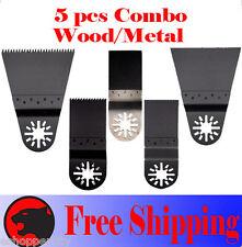 5 Pcs Pro Oscillating Multi Tool Saw For Blade Ryobi Jobplus Bosch X Dremel Max