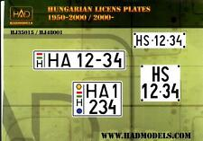 Hungarian Aero Decals 1/48 HUNGARIAN ARMOR LICENSE PLATES