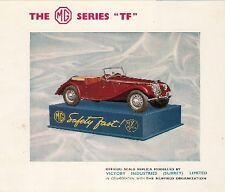 Victory Industries MG TF Electric 1:16 Scale Model c1954 UK Leaflet Brochure