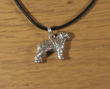 Sheep Dog Charm Pendant Necklace .925 Sterling Silver Old English USA Made Gift