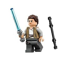 LEGO STAR WARS LAST JEDI MINIFIGURE REY LIGHTSABER AND STAFF 75200 AHCH-TO