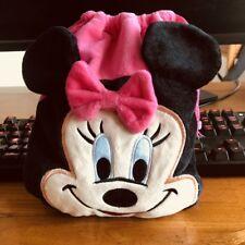 Disney pink minnie pouch bag drawstring anime bag makeup bags Phone holder new