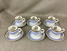 Rare Coffee Set Cup & Saucers Horse Racing The Jockey Club Armorial Crest