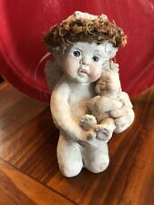 Large 5in Cast Dreamsicle Kneeling Holding Baby Signed Kristen