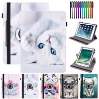 For Samsung Galaxy Tab A E S 8.0 Tablet Kids Case Cartoon Flip PU Leather Cover