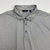 Walter Hagen Polo Shirt Men's 2XL XXL Short Sleeve Gray White Polyester Blend
