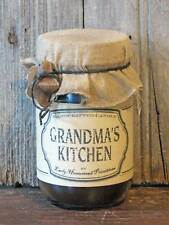 Primitive Rustic Country Handmade Grandma's Kitchen Scented Jar Candle