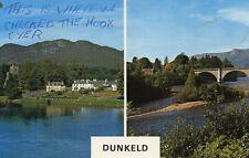 postcard Scotland  Perthshire  Dunkeld  posted