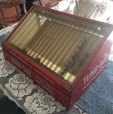VINTAGE 1950's - 60's TUNG-SOL AUTO LAMPS DEALER DISPLAY CASE WITH A Few Bulbs