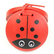 1pc Kid Children Cartoon Wooden Castanet Toy Musical Percussion Instrument AD