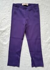 Marni Viscose Cotton Blend Cropped Leggings Purple sz 40 EUC