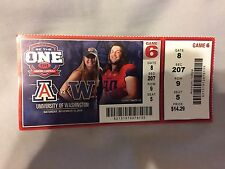 2014 Football Ticket Stub Arizona vs Washington