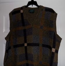 SCOTT OFFICER Made In Scotland Silk Lambswool Men's Size Large L Sweater Vest