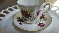 Royal Grafton-Fine English Bone China-Burgundy Rose Tea Cup and Saucer
