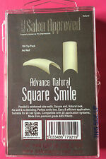Pro Impressions Box 100 Advance Natural Square Smile Tips Nails Acrylic Gel
