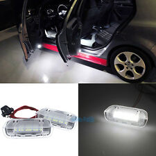 2Pcs White Led Door Courtesy Light For VW Golf GTI Passat B6 B7 Jetta MK5 MK6