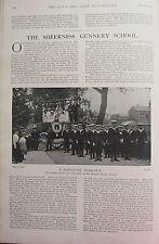 1902 PRINT ~ SHEERNESS GUNNERY SCHOOL'S CAR BRITANNIA CHARITY CARNIVAL