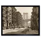 Berenice Abbott Manhattan Bridge New York Photo Framed Wall Art Poster