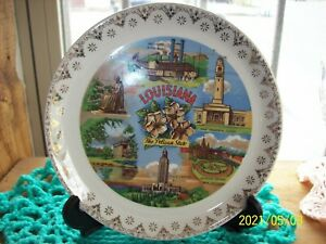 Vintage State of Louisiana Collectible Plate