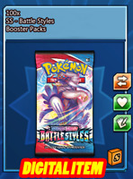 100x Battle Styles Codes Booster Packs Pokemon TCG Online (PTCGO, Ingame)