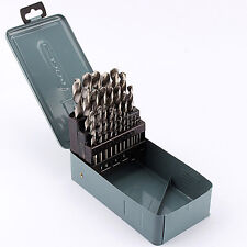 1mm~13mm HSS Cobalt Twist Drill Bits HSS-Co Bit Metal Stainless Steel 25Pcs