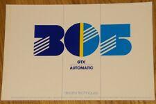 Prospekt Auto Design Technik Peugeot 305 GTX Automatik s.g. Zustand