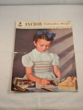 VINTAGE ANCHOR EMBROIDERY DESIGN PATTERN BOOKLET