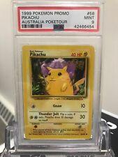 Psa 9 Mint Pikachu Poketour Australia 1999 Promo Pokemon #58 Wotc